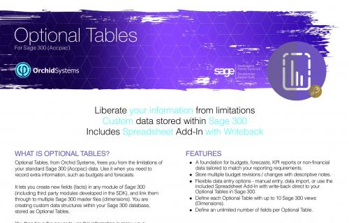 Optional Tables Brochure